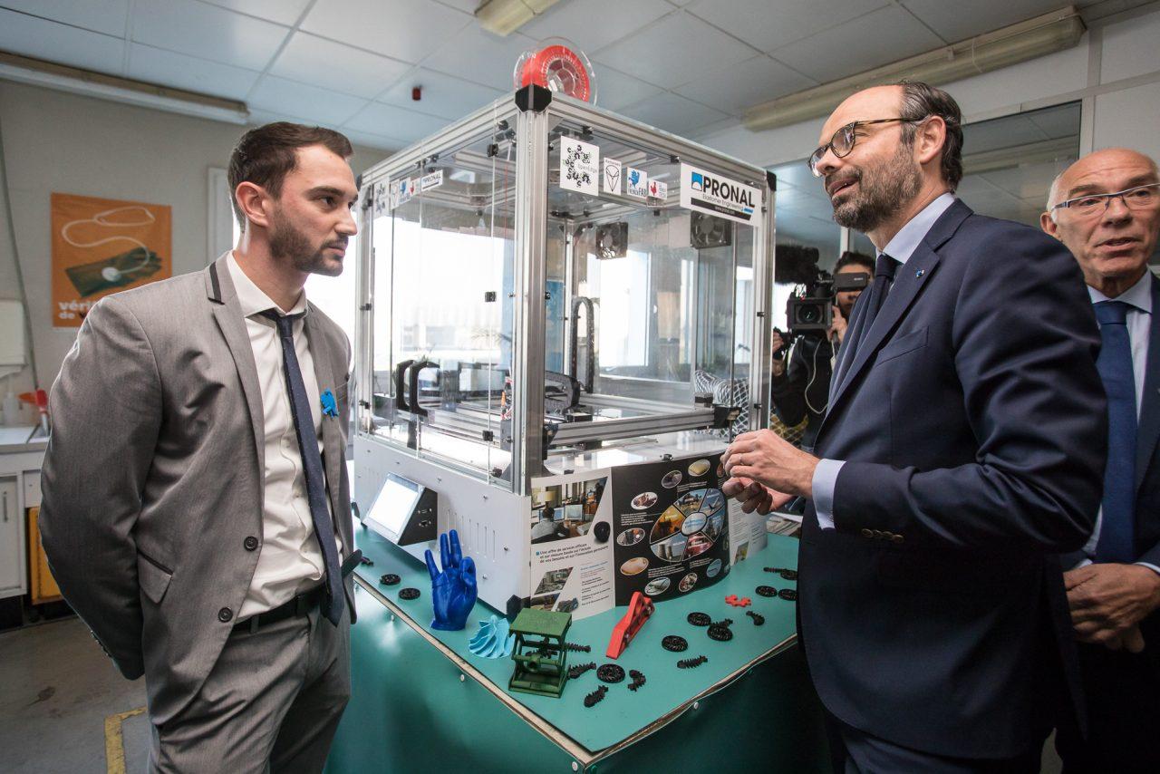 Monsieur le Premier Ministre au laboratoire Pronal