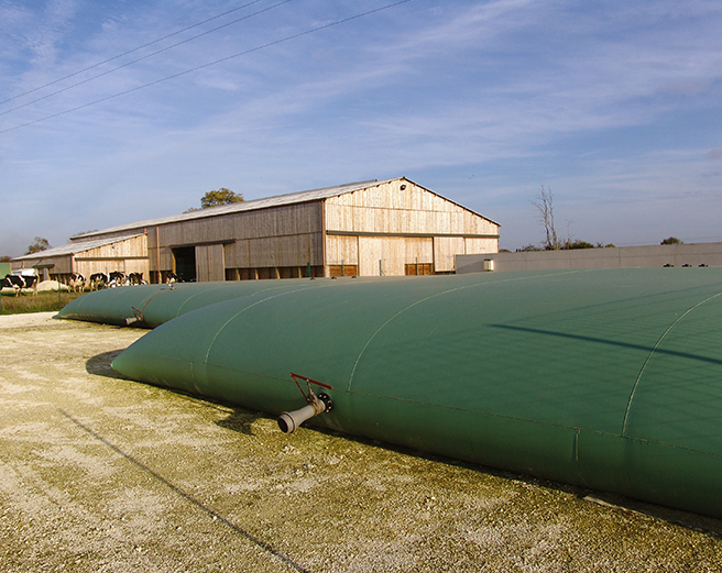 Flexible effluent tanks