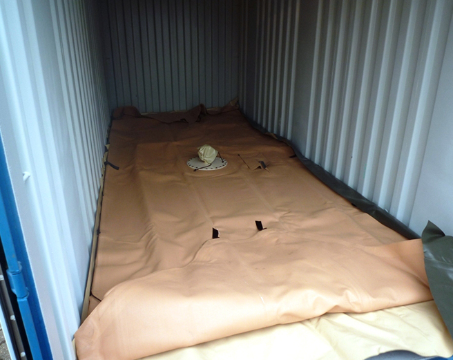Tanque flexible de transporte en contenedor LCI