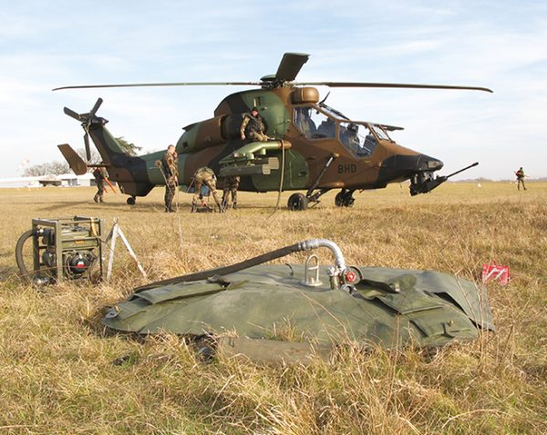 Flexible heli-transportable tanks