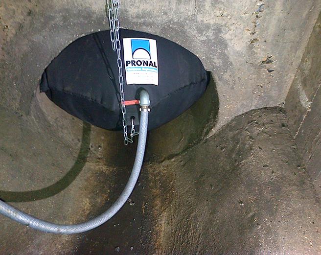 OPAP dans la canalisation d'assainissement