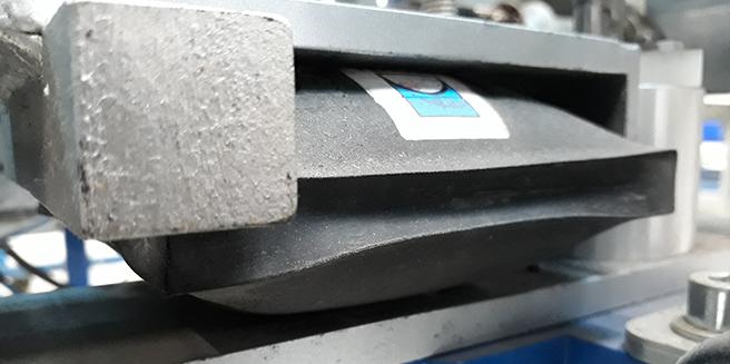 Cilindro inflable pronal para frenar rodillos transportadores
