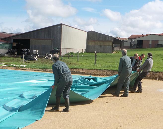 Installation de la citerne souple effluents agricoles