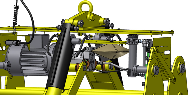 Crane hydraulic system with an oil compensator