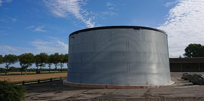 fire water storage tank in overhead tank